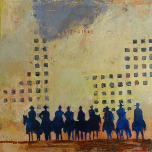 City Girls, 2015, acrylic on canvas, 30 x 30 inches