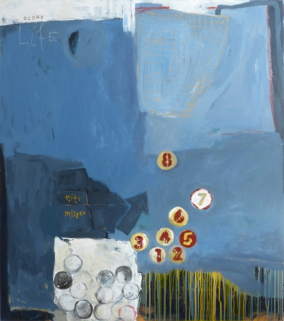Life Score, 2014, acrylic on canvas, 54 x 48 inches (sold)