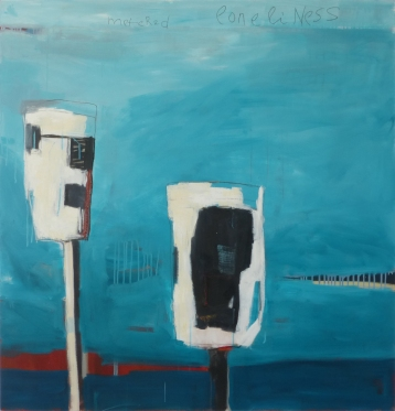 Metered Loneliness, 2014, acrylic on canvas, 48 x 46 inches (sold)