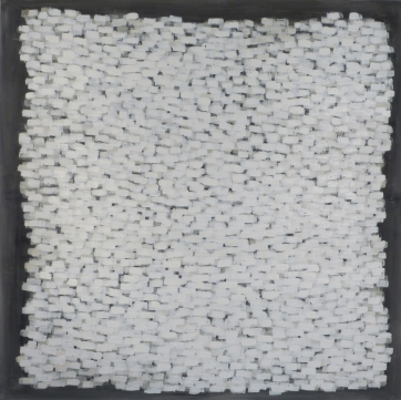 White Elements, 2011, acrylic on canvas, 60 x 60 inches
