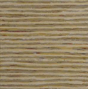 Happy, Not Happy, 2011, acrylic on canvas, 16 x 16 inches