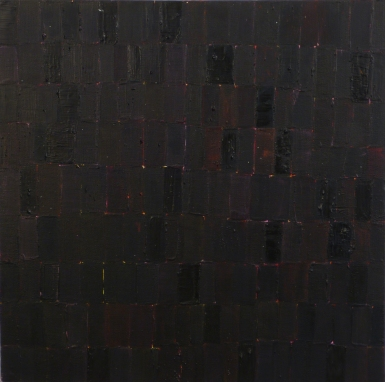 Black Squares, 2011, acrylic on canvas, 16 x 16 inches