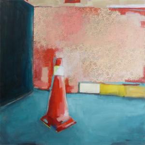 Secret Escape, 2015, mixed media on canvas, 48 x 48 inches