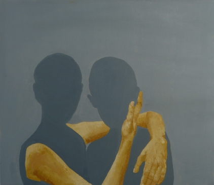 Intimate Connection (1), 2012, oil on canvas, 26 x 30 inches (sold)