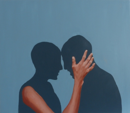 Intimate Connection (3), 2012, oil on canvas, 26 x 30 inches