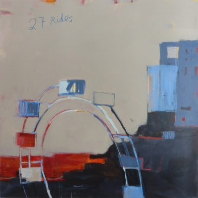 27 Rides, 2015, acrylic on canvas, 36 x 36 inches (sold)