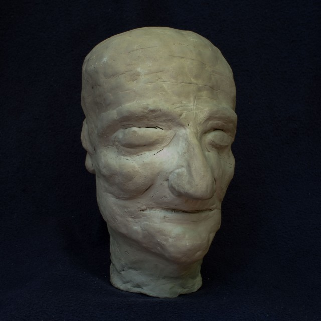 Head Sculpture (4), 2010, clay, 7 1/2 inches (sold)