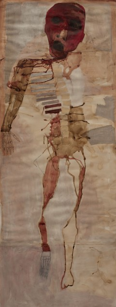 Person (2), 2010, mixed media on paper, ? x ? inches