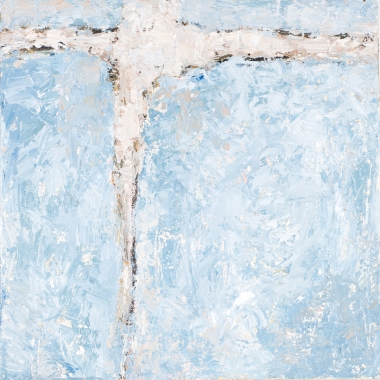 Crossing (1), 2008, oil on canvas, 16 x 16 inches