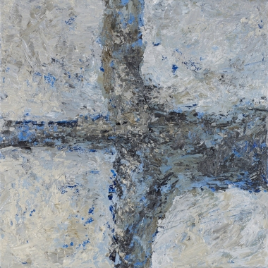 Crossing (2), 2008, oil on canvas, 16 x 16 inches