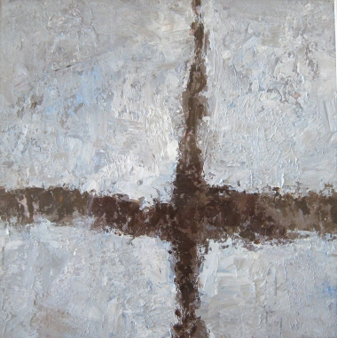Crossing (20), 2008, oil on canvas, 16 x 16 inches