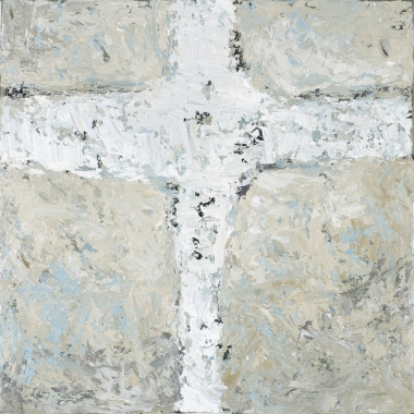 Crossing (3), 2008, oil on canvas, 16 x 16 inches