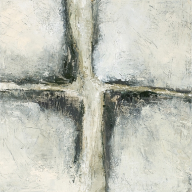 Crossing (7), 2008, oil on canvas, 16 x 16 inches