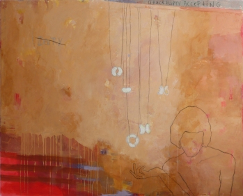 Gracefully Accepting, 2013, acrylic on canvas, 60 x 48 inches (sold)