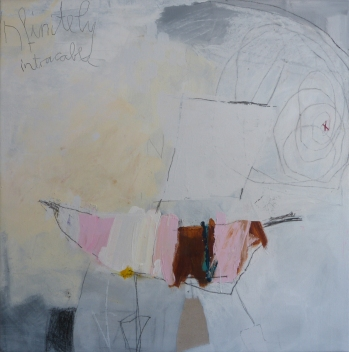 Infinitely Untraceable, 2015, mixed media on canvas, 30 x 30 inches (sold)