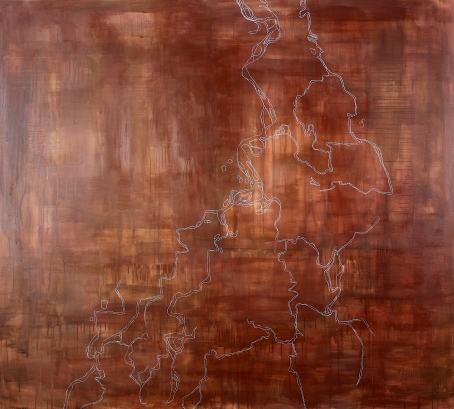 Ayawardi, 2007, acrylic on canvas, 180 x 200 cm (sold)