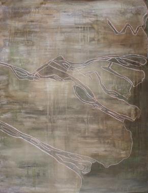 Mekong II, 2006, acrylic on canvas, 130 x 100 cm (sold)