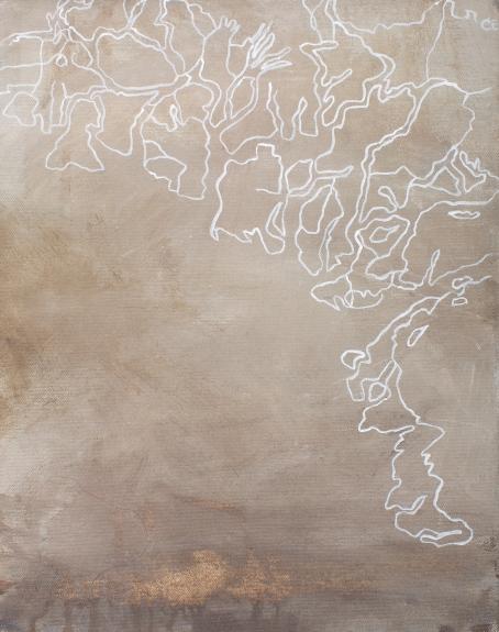 Indus, 2007, acrylic on canvas, 37 x 29 cm (sold)