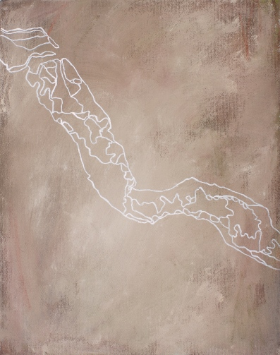 Rio Negro, 2007, acrylic on canvas, 37 x 29 cm