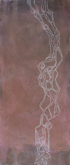 Orinoco II, 2007, acrylic on canvas, 70 x 30 cm (sold)