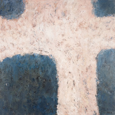Crossing (I), 2008, oil on canvas, 40 x 40 inches (sold)