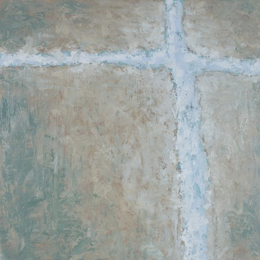 Crossing (II), 2008, oil on canvas, 40 x 40 inches (sold)