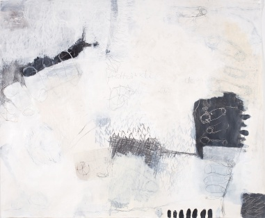Freihändig radelnd (1) (Riding No-Hands 1), 2009, mixed media on paper, 39 1/2 x 47 inches