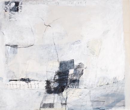 Nicht ungestraft stolpern, 2009, mixed media on paper, 39 x 46 inches