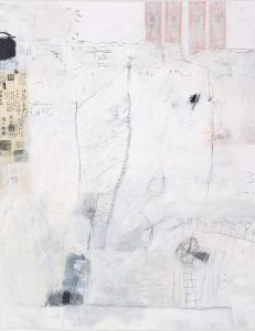 Between the Roofs (4), 2009, mixed media on paper, 38 1/2 x 29 1/2 inches
