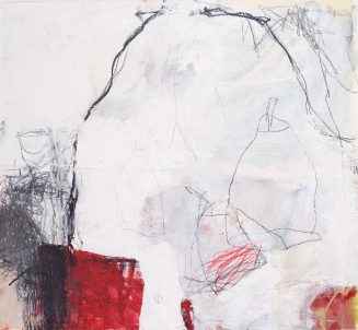Bottleshock, 2008, mixed media on paper, 25 1/2 x 27 1/2 inches (sold)