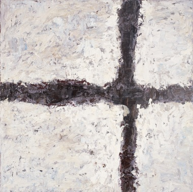 Crossing (8), 2008, oil on canvas, 16 x 16 inches