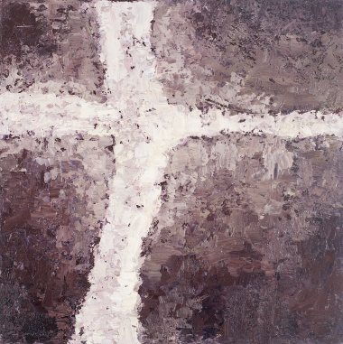Crossing (9), 2008, oil on canvas, 16 x 16 inches