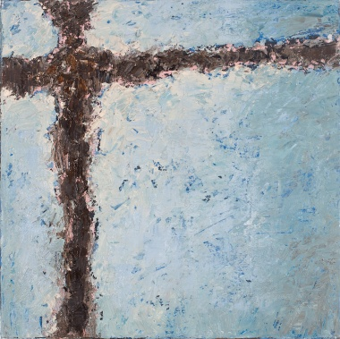 Crossing (13), 2008, oil on canvas, 16 x 16 inches