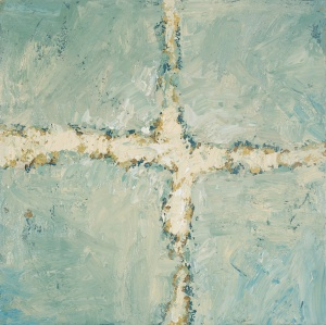 Crossing (14), 2008, oil on canvas, 16 x 16 inches
