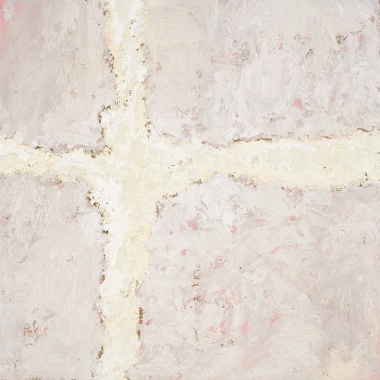 Crossing (17), 2008, oil on canvas, 16 x 16 inches