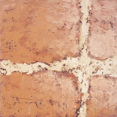 Crossing (18), 2008, oil on canvas, 16 x 16 inches