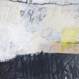 Quantity 1 Piece, 2009/16, mixed media on paper, mounted on panel, 12 x 12 inches
