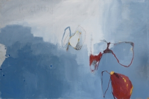 Levitating, 2015, acrylic on canvas, 40 x 60 inches (sold)