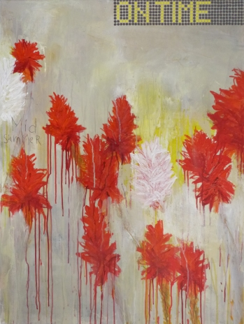 On Time, 2013, acrylic on canvas, 40 x 30 inches (sold)
