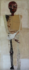 Person (3), 2010, mixed media on paper, 59 x 24 inches
