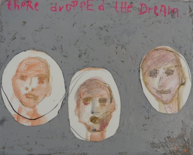 There Dropped the Dream, 2012, mixed media on canvas, 8 x 10 inches (sold)