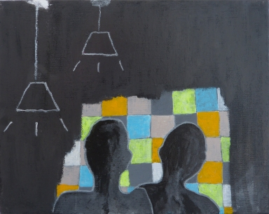 Where the Light Comes In, 2012, mixed media on canvas, 8 x 10 inches (sold)
