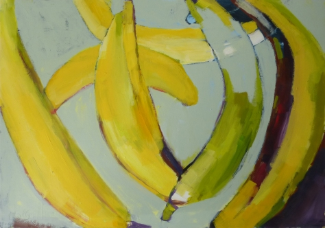 Totally (Bananas), Totally (Bananas), 2018, acrylic on canvas, 38 x 54 inches2018, acrylic on canvas, 38 x 54 inches (available at Hang Art)