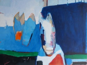 Trio, 2021, acrylic on canvas, 30 x 40 inches